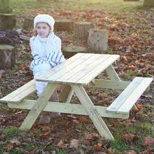 Kids Wooden Picnic Table Kids Picnic Table Childrens Wooden Picnic Bench Seats 6 Children
