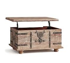 glass wood and metal coffee tables pottery barn