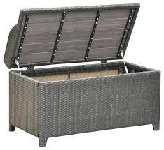 amazing wicker patio bench awesome outdoor storage box seat