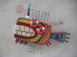 twisted fish 132 original found object sculpture wood carving