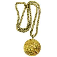 charm necklace tiffany images Tiffany and co gold taurus zodiac pendant necklace at 1stdibs jpeg