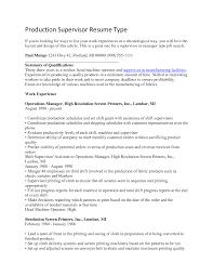 How To Take A Good Resume Photo Production Supervisor Resume Berathen Com