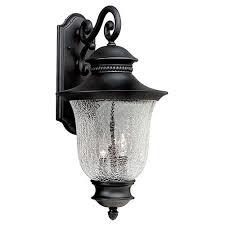 Forte Lighting Wall Sconce Crackle Glass Light Fixture Bellacor