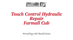 touch control hydraulics on a farmall cub youtube