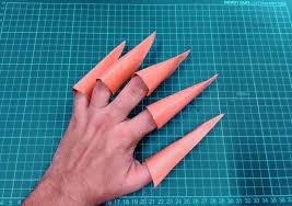 Origami Paper Claws - how to make origami paper claws origami paper folding craft