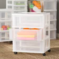 Rolling Bathroom Storage Cart by Plastic Storage Drawers You U0027ll Love Wayfair