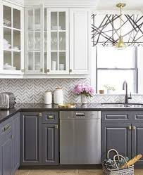 Gray Kitchens Pictures Stylish Two Tone Kitchen Cabinets For Your Inspiration Grey
