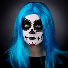 ghost face painting for halloween sugar skull face paint step by step dealz