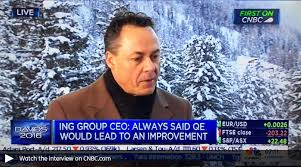 ing ieur bureau d ude ralph hamers talking about trends in banking sector at cnbc in davos