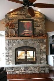 indoor stone fireplace kits building double layer beige marble