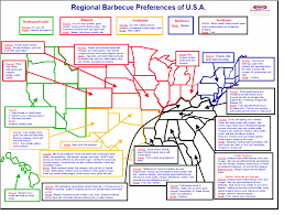 Beer Map Of Usa by Regional Barbecue Preferences U2013 Infographic U2013 All Qd Up