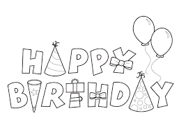 happy birthday cake coloring page for kids birthday cakes with