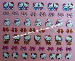 newest 25 kinds hello kitty styles nail art 3d hello kitty nail