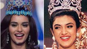pageant hair that wins the most sushmita sen bumped into manushi chhillar on a flight here s how