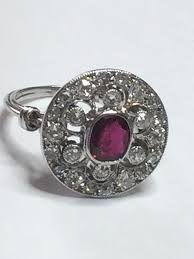 antique rings images Antique art deco platinum ruby and diamond ring alison needful jpg