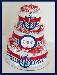 Nautical Baby Shower Centerpieces by Nautical Diaper Cake Nautical Baby Shower Sailboat By Msperks