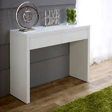 white console table with drawers console tables astonishing white gloss console table with drawers
