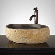 shimek dark gray river stone vessel sink bathroom