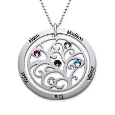 personalized family tree necklace personalized birthstone family tree necklace forevermom