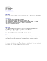 excellent resume examples for hair stylist job vntask com