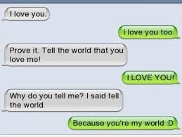 Funny Text Messages Jokes Memes - i feel like she just doesn t quite realise the depth of his love