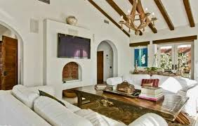 White Ceiling Beams Decorative by Distressed Living Room And Open Ceiling Roof With Oak Wooden Beams