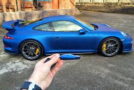 cool wrapped cars wrapping my porsche 991 gt3 blue by signature group youtube