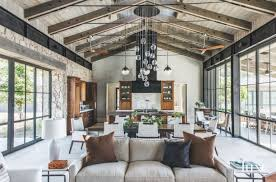 Chandelier For Cathedral Ceiling Vaulted Ceiling Open Space Living Room Dining Room And Kitchen