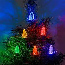 c9 led bulbs diamond faceted replacement christmas light bulbs