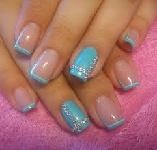 best 20 blue french tips ideas on pinterest blue french
