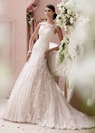pink jeweled lace illusion neckline wedding dress 115234 locklyn