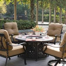 patio furniture with fire pit table exterior inspiring patio decor ideas with costco fire pit tabitha