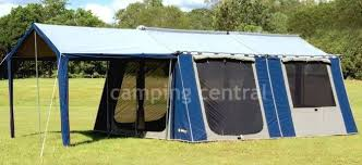 Oztent Awning Oztrail 12 X 15 Canvas Cabin Family Tent Available At A Great