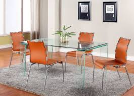 kitchen orange leather dining chairs modern accent chairs