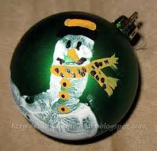 handprint snowman ornament with poem handprint