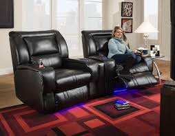 Sectional Sofas With Recliners And Cup Holders Lay Flat Recliner With Led Lights U0026 Cup Holders By Southern Motion