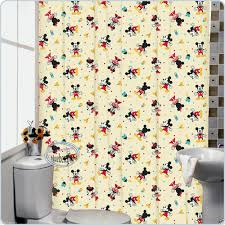 Mickey And Minnie Curtains by Disney Mickey Mouse Bath Shower Curtain With Rings Bathroom