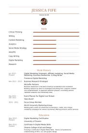 Event Planning Resume Samples by Digital Marketing Strategist Resume Samples Visualcv Resume