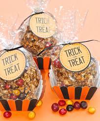 trick or treat halloween treat bags caramel popcorn recipe