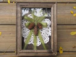 rustic victorian pine cone shadow box shabby chic cottage decor