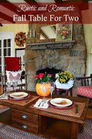 rustic dinner table settings autumn tablescape rustic and romantic dinner for two exquisitely