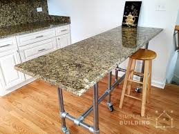 granite top island kitchen table 51 diy table ideas built with pipe simplified building