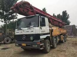 volvo truck factory concrete pump truck and volvo used concrete pump 46m
