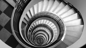 spiral staircase monochrome hd
