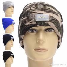 running hat with lights winter warm beanies hat led light sports beanie cap cing running