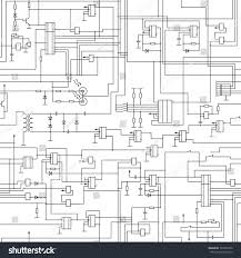 vector seamless electrical circuit diagram pattern stock vector