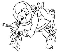 hug monkey bananas coloring pages kids dna printable