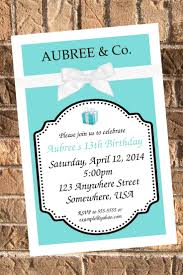 22 best invitations images on pinterest tiffany party tiffany