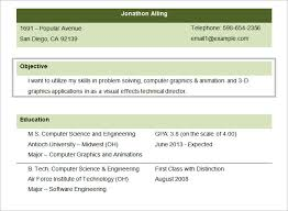 Sample Resume For Ojt Computer Science Students by Resume Objectives U2013 46 Free Sample Example Format Download