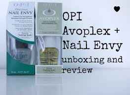 opi avoplex nail envy unboxing and review youtube